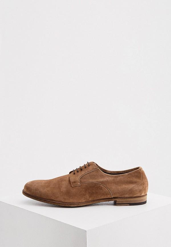 мужские туфли-дерби fratelli rossetti, коричневые
