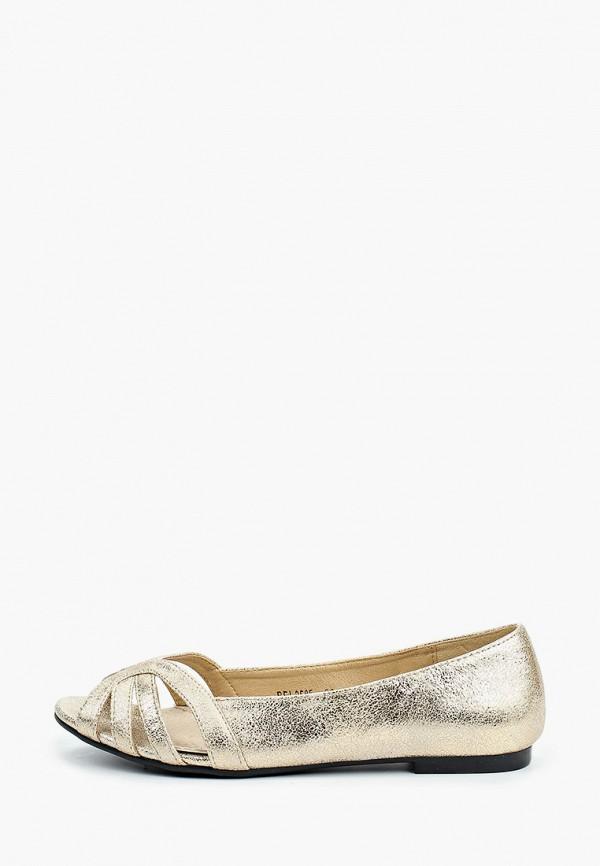 женские балетки la bottine souriante, золотые