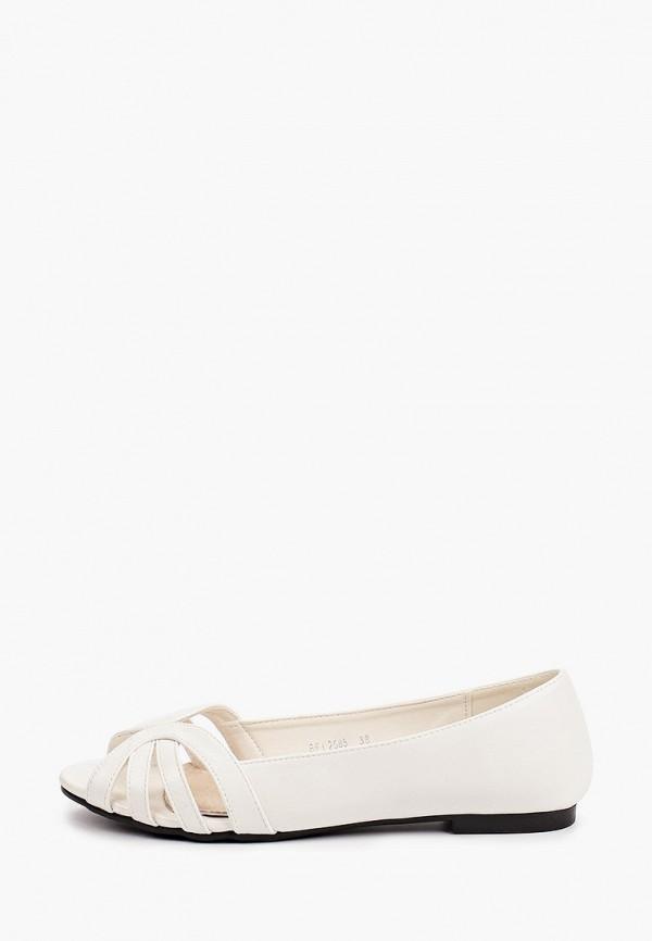 женские балетки la bottine souriante, белые