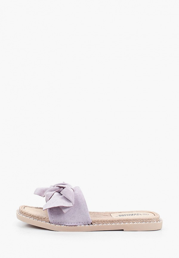 женское сабо la bottine souriante, фиолетовое