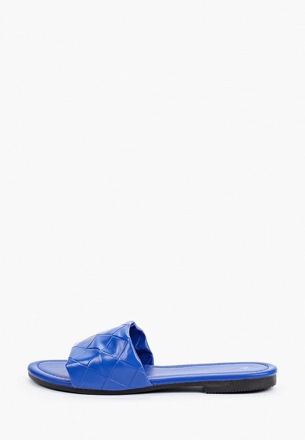 женское сабо la bottine souriante, синее