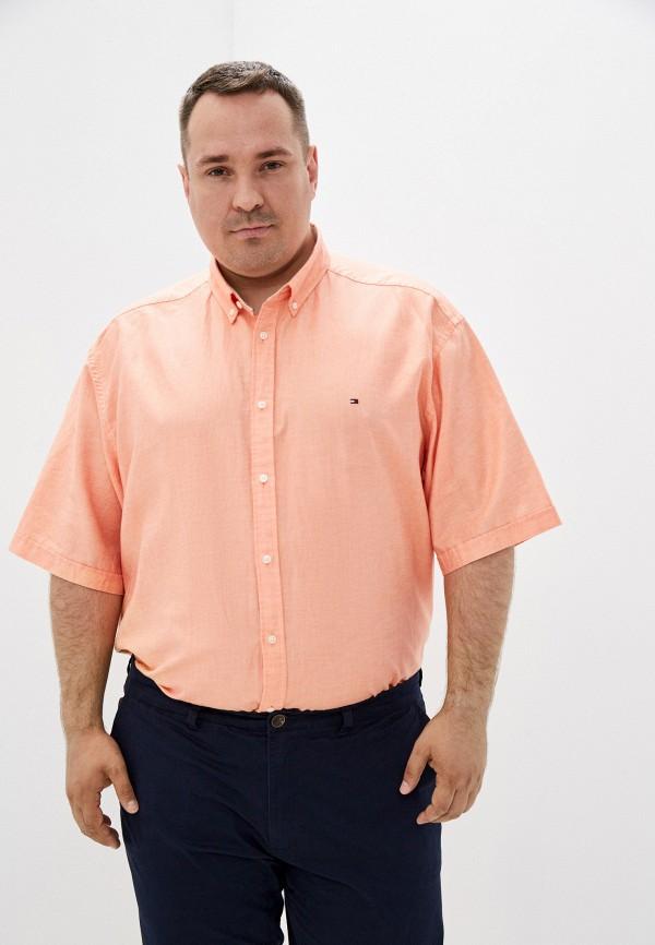 Рубашка Tommy Hilfiger оранжевого цвета