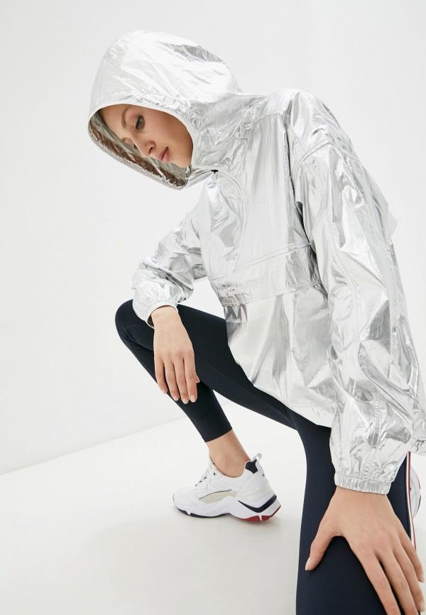 женская куртка анораки tommy hilfiger, серебряная