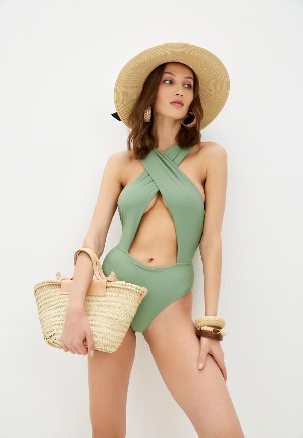 женский купальник diverius, зеленый