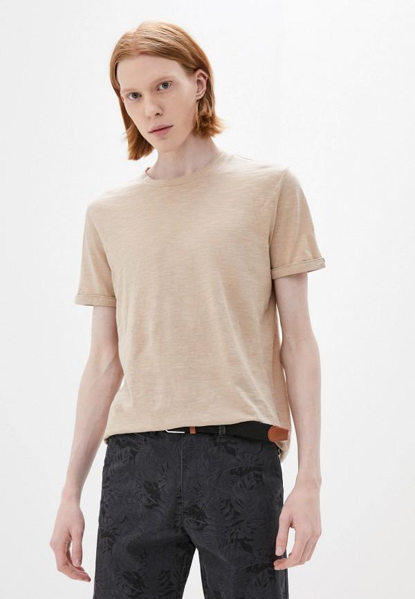 мужская футболка с коротким рукавом joop!, бежевая