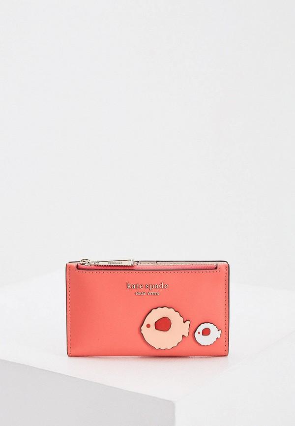 женский кошелёк kate spade, розовый