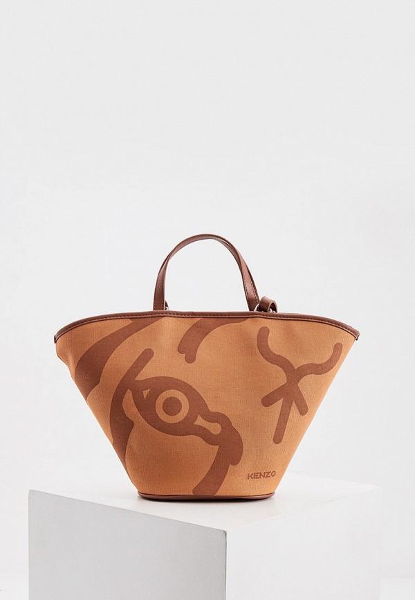 женская сумка kenzo, коричневая
