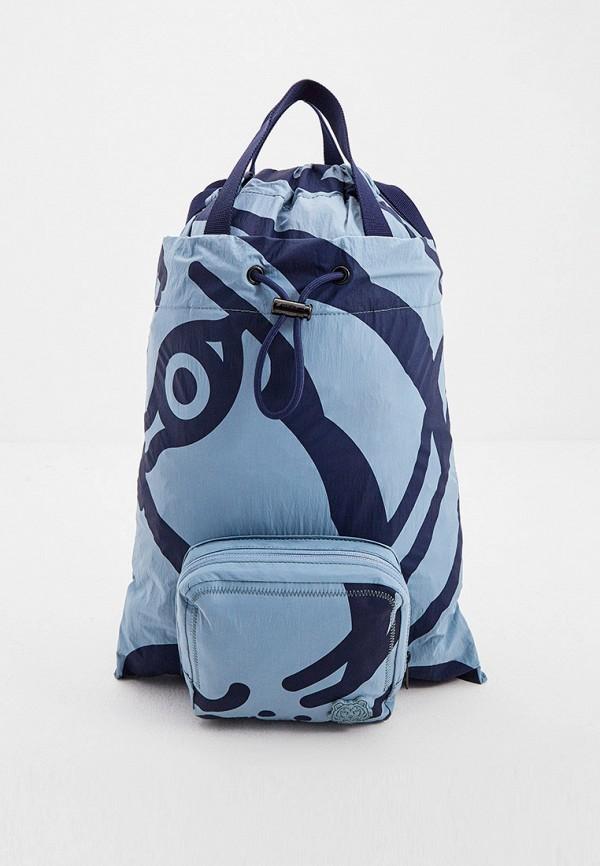 женский рюкзак kenzo, голубой