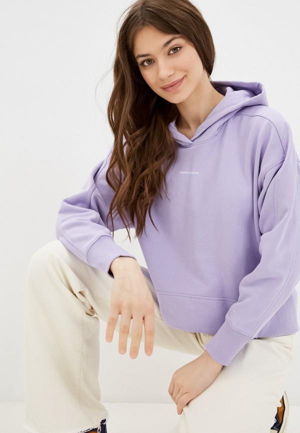 женские худи calvin klein, фиолетовые