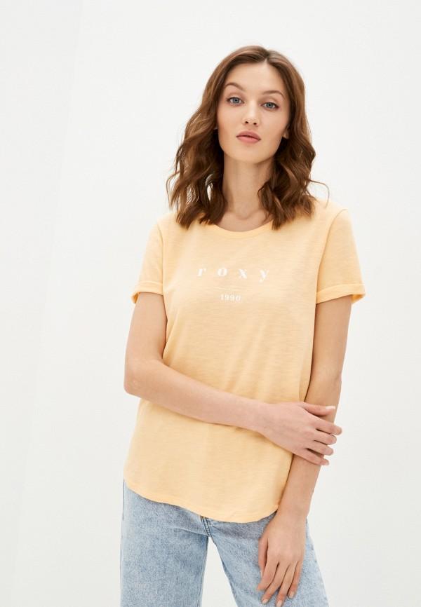 женская спортивные футболка roxy, оранжевая