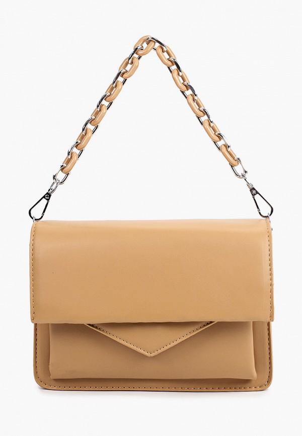 женская сумка с ручками aaquamarina, коричневая