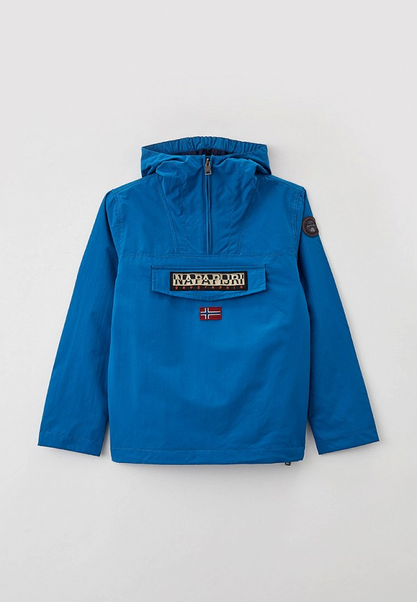 легкие куртка napapijri для мальчика, синяя
