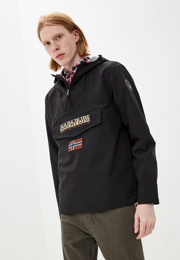 мужская куртка анораки napapijri, черная