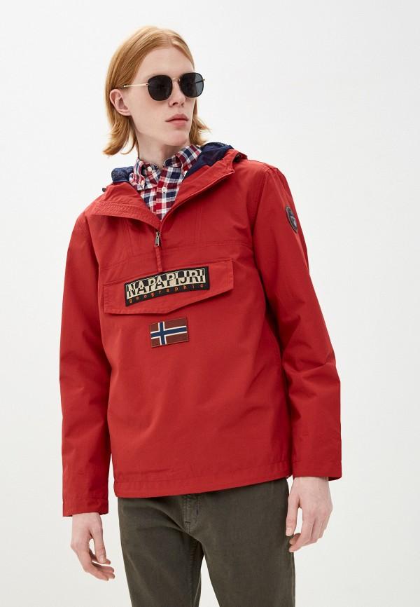 мужская куртка анораки napapijri, красная