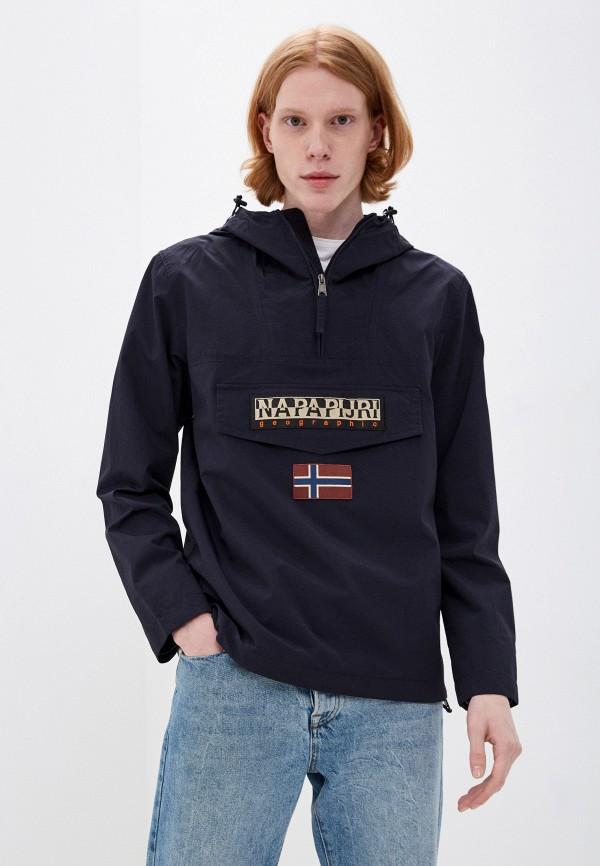 мужская куртка анораки napapijri, синяя