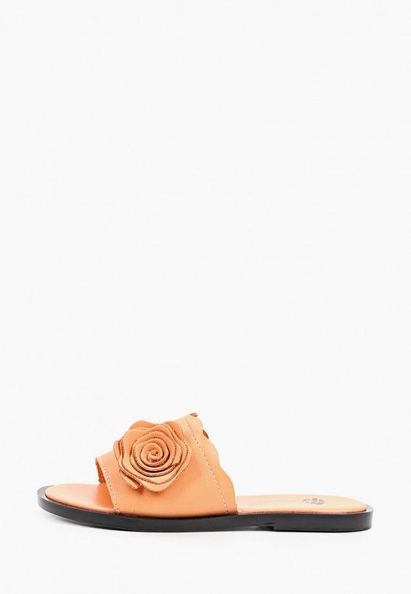 женское сабо tf's, оранжевое