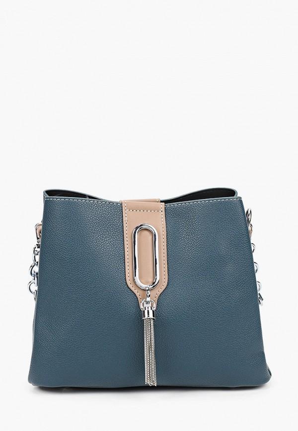 женская сумка с ручками izabella, бирюзовая