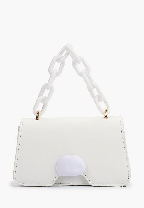 женская сумка с ручками izabella, белая