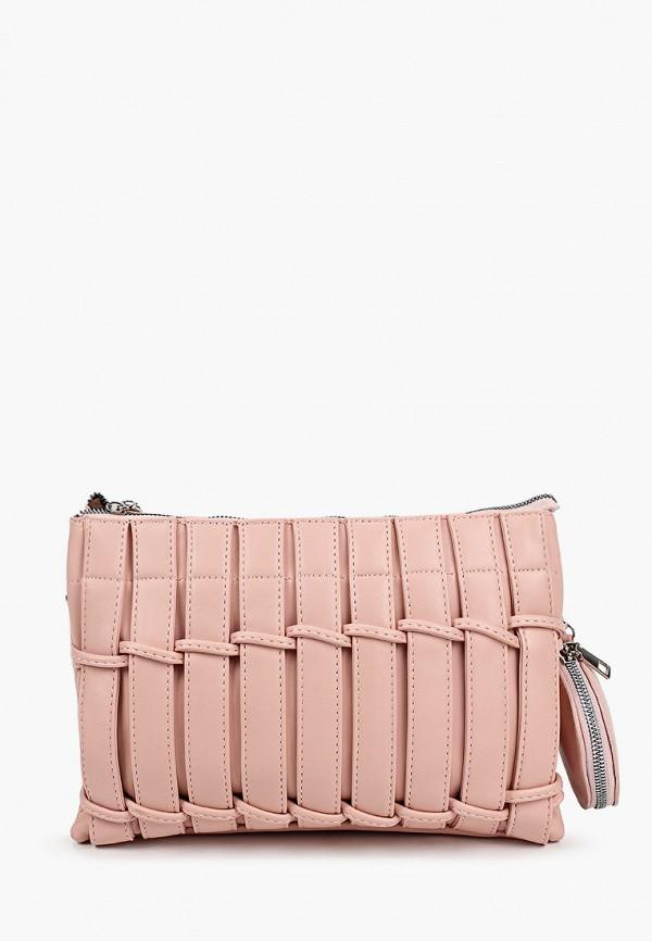 женский кошелёк через плечо izabella, розовый
