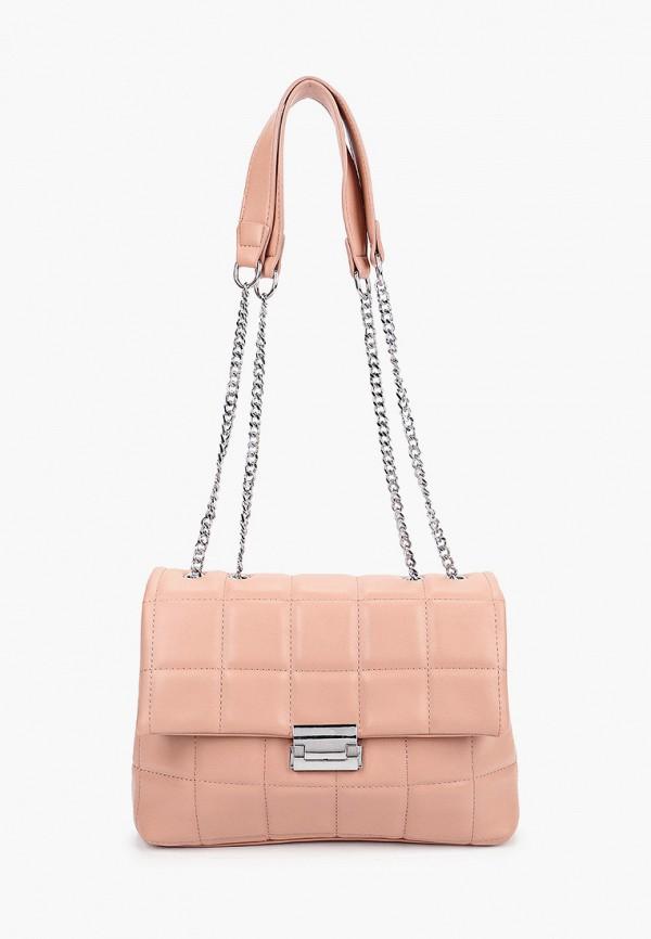 женская сумка с ручками izabella, розовая