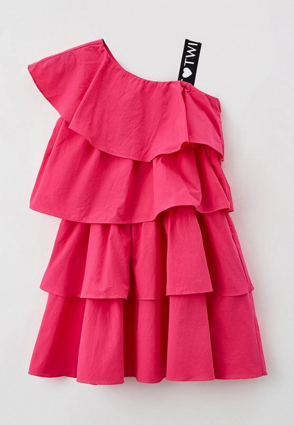 повседневные платье twinset milano для девочки, розовое