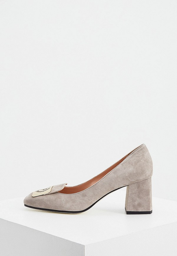 женские туфли pollini, серые