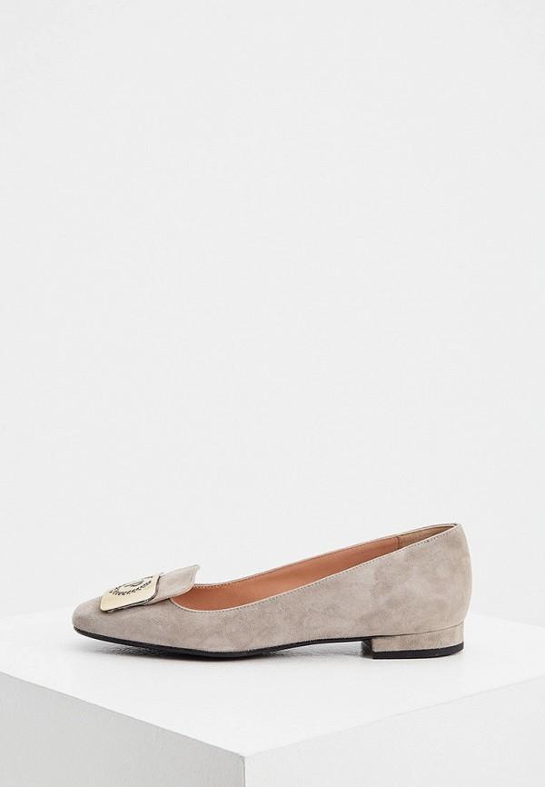женские туфли с закрытым носом pollini, серые