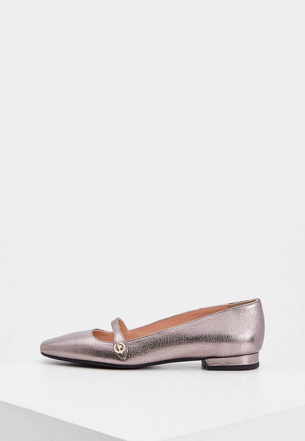 женские туфли pollini, серебряные