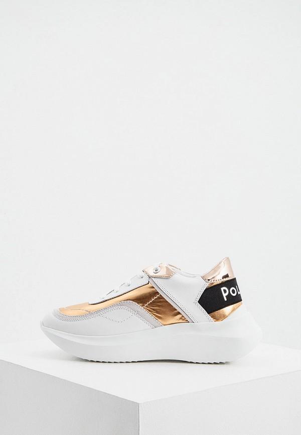женские низкие кроссовки pollini, золотые