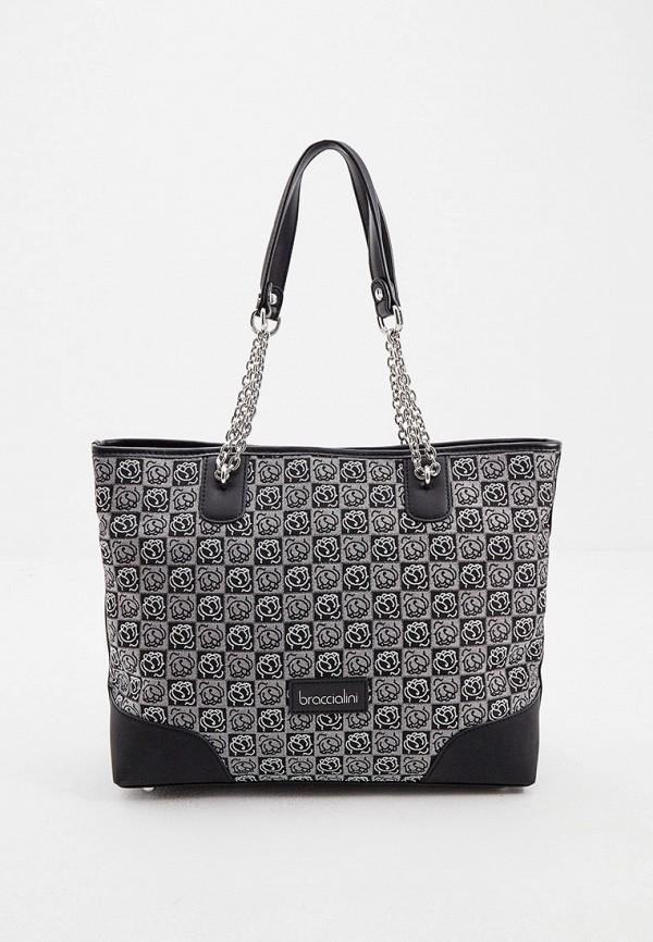 женская сумка-шоперы braccialini, серая