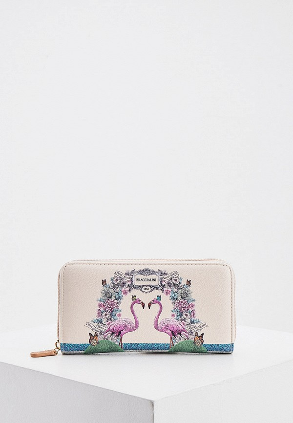 женский кошелёк braccialini, бежевый