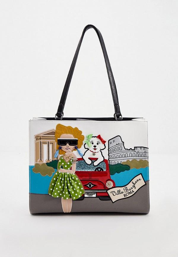 женская сумка-шоперы braccialini, белая