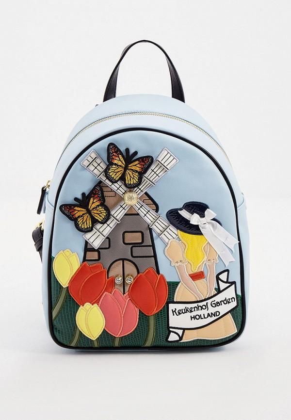 женский рюкзак braccialini, голубой