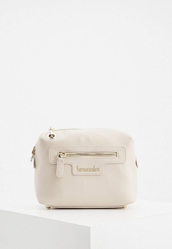 женская сумка через плечо braccialini, бежевая