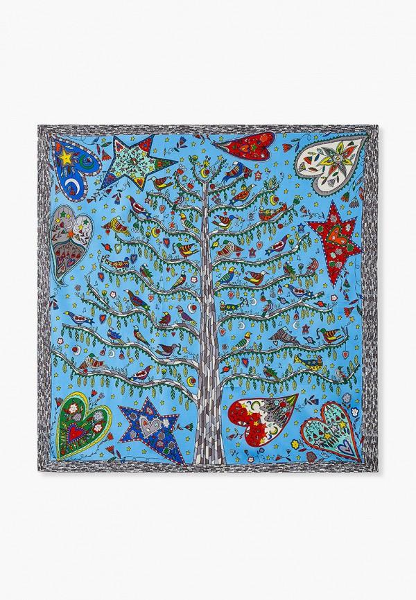женский платок nataco, голубой