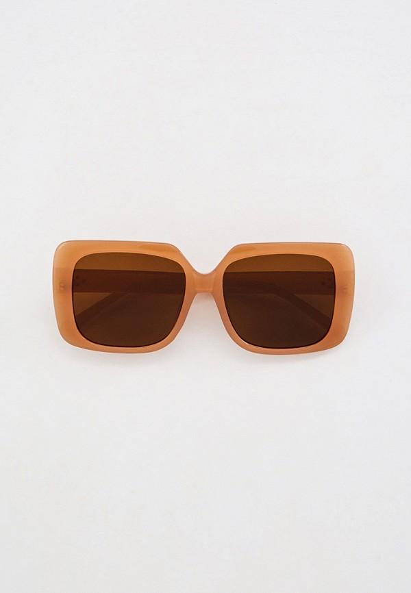 женские квадратные солнцезащитные очки nataco, бежевые