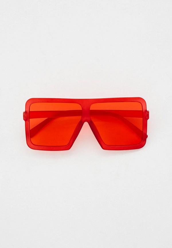 женские квадратные солнцезащитные очки nataco, красные