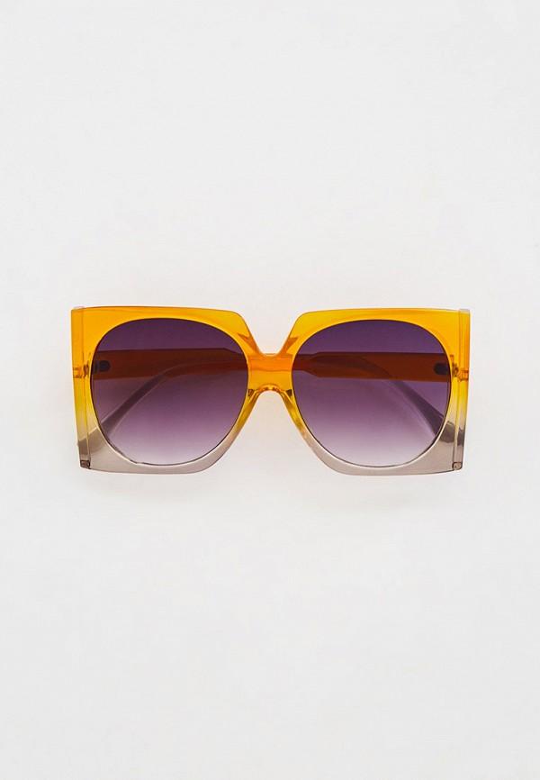 женские квадратные солнцезащитные очки nataco, оранжевые