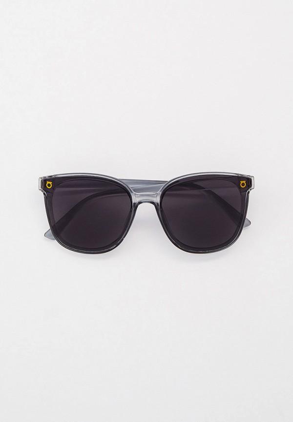 женские круглые солнцезащитные очки nataco, серые