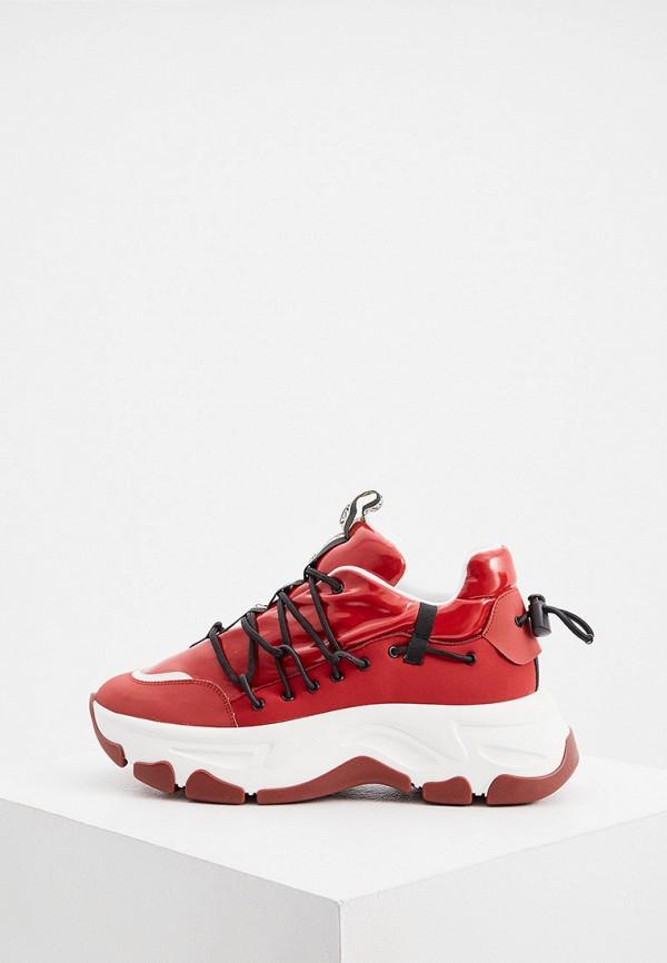 женские низкие кроссовки fabi, красные