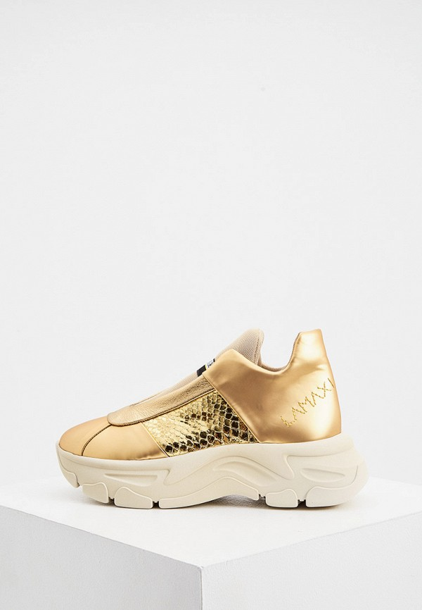 женские высокие кроссовки fabi, золотые
