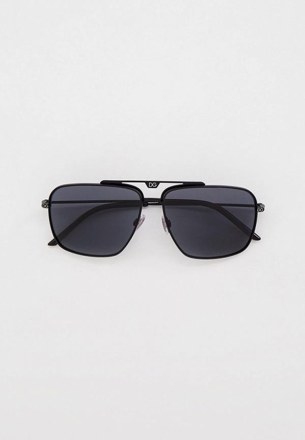 мужские авиаторы солнцезащитные очки dolce & gabbana, черные