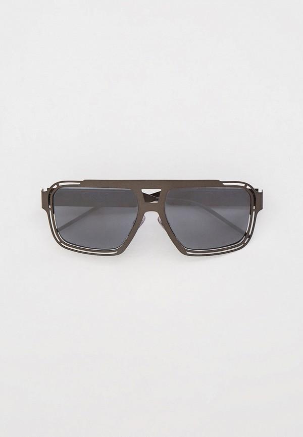 мужские квадратные солнцезащитные очки dolce & gabbana, серые