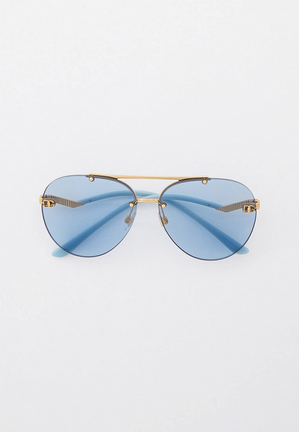 женские авиаторы солнцезащитные очки dolce & gabbana, голубые