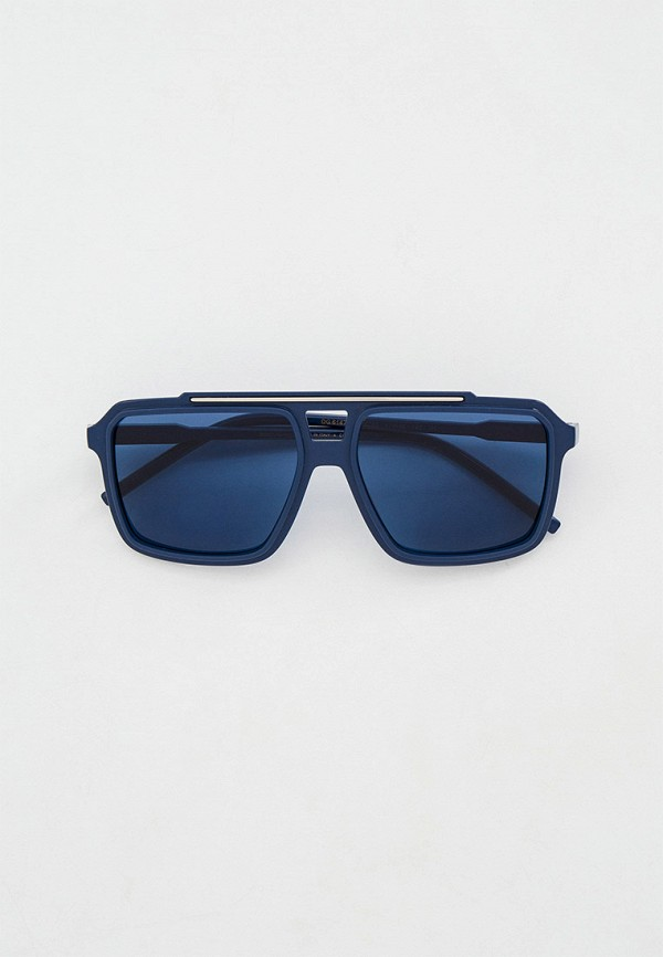 мужские квадратные солнцезащитные очки dolce & gabbana, синие