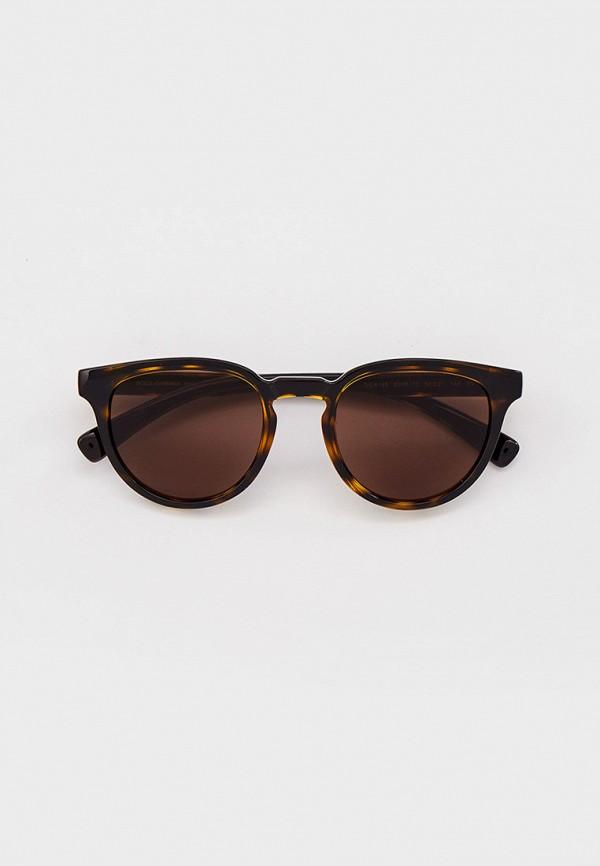 мужские квадратные солнцезащитные очки dolce & gabbana, коричневые