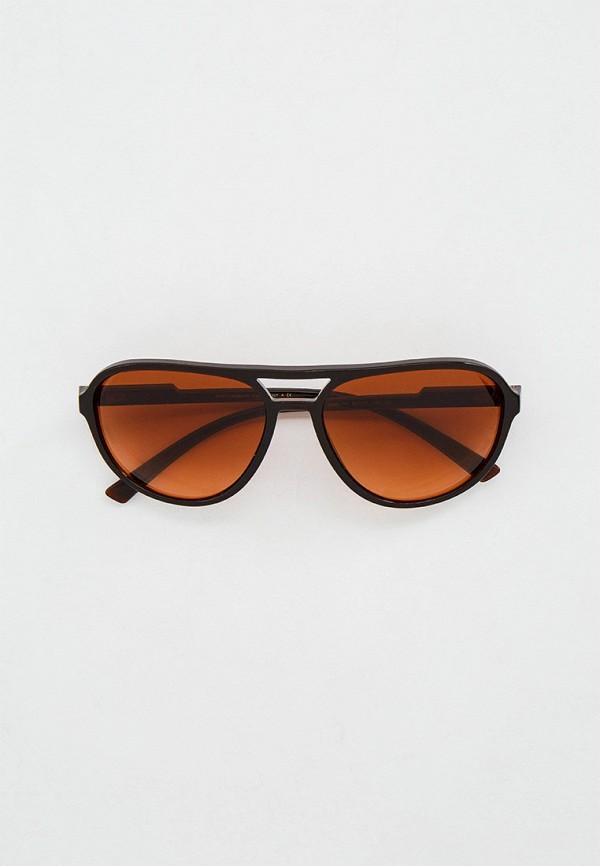 мужские круглые солнцезащитные очки dolce & gabbana, коричневые