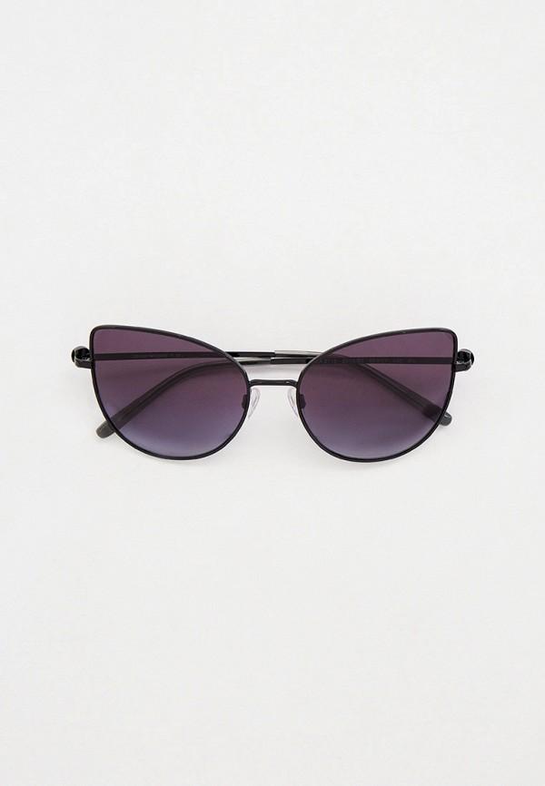 женские солнцезащитные очки кошачьи глаза emporio armani, черные