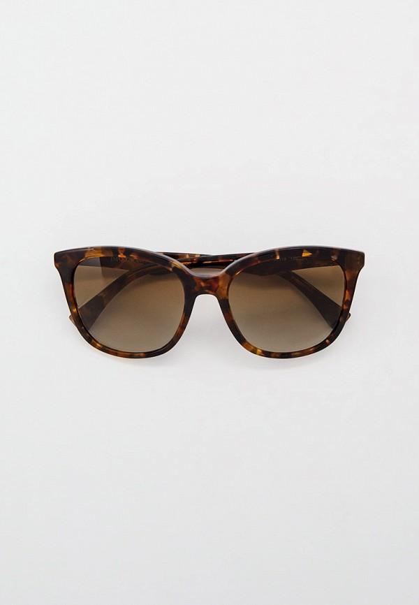 женские квадратные солнцезащитные очки emporio armani, коричневые