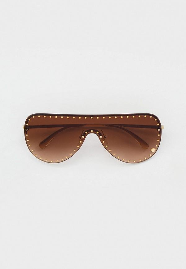 женские авиаторы солнцезащитные очки versace, золотые